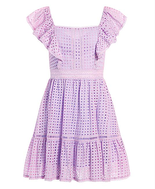 Item - Lavender with Tag Remada Ruffle Sleeve Mini Night Out Dress Size 8 (M)
