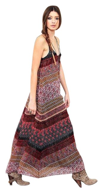 Item - Red U Back Indian Goddess Long Casual Maxi Dress Size 2 (XS)