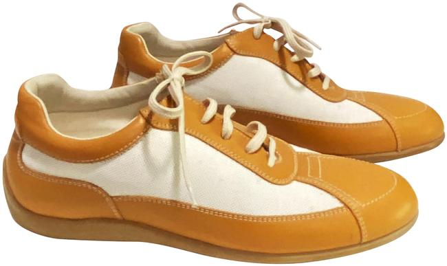 Item - Camel Leather Sneakers Size US 8 Regular (M, B)