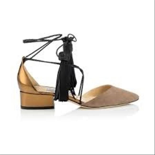 Item - Light Mocha Gold Black Duchess 30 Suede and Honey Mirror Leather Flats Size EU 38 (Approx. US 8) Regular (M, B)