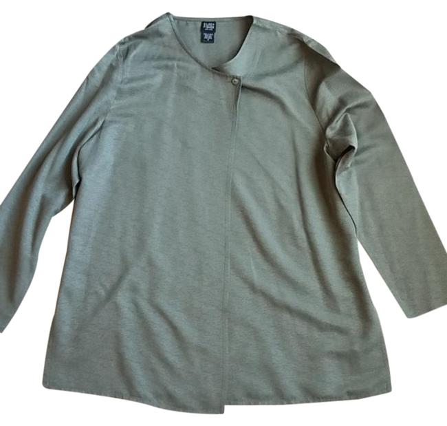 Item - Olive Green Silk Tunic Blouse Size 10 (M)