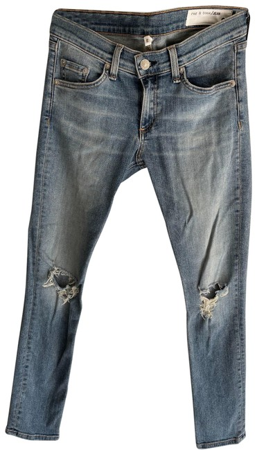 Item - Blue Distressed Skinny Capri/Cropped Jeans Size 26 (2, XS)