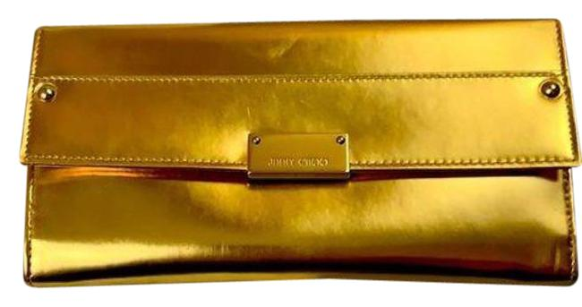 Item - Reese Gold Leather Clutch