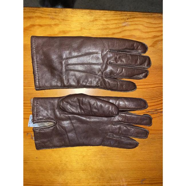 Item - Brown Suede Genuine Fur Lining Gloves