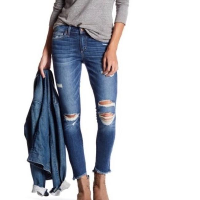 Item - Blue Distressed Mayra High Skinny Jeans Size 32 (8, M)