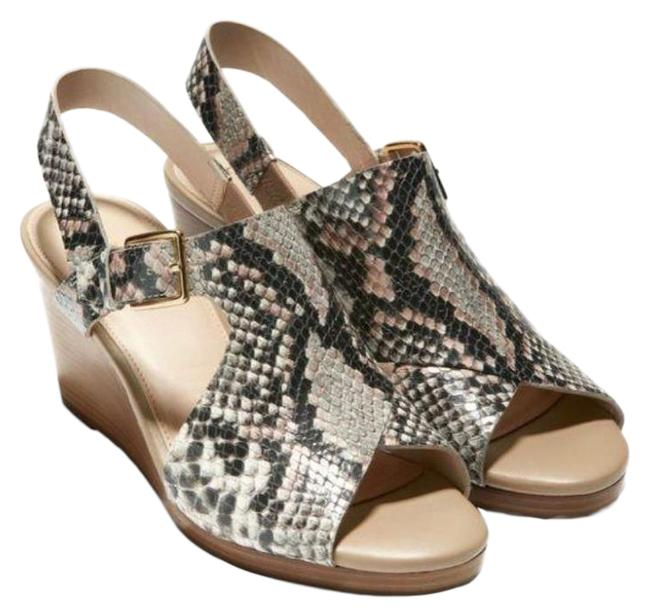 Item - Python New Philomina Snake Print Heel Sandals Wedges Size US 8 Regular (M, B)