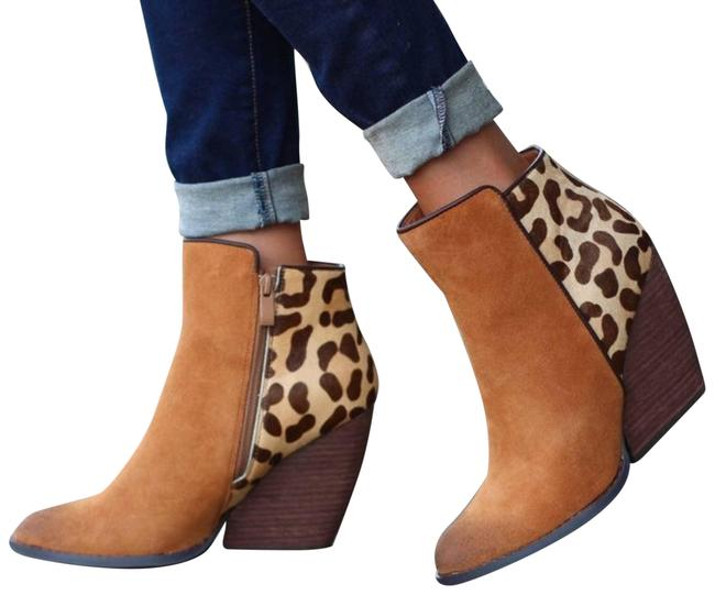 Item - Tan New Pony Hair Leopard/ Suede Boots/Booties Size US 6.5 Regular (M, B)