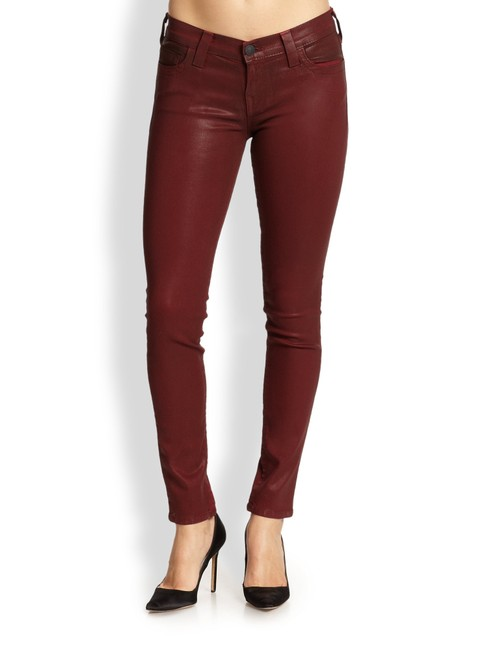 Item - Coated Halle Mid Rise Super Skinny Jeans Size 0 (XS, 25)
