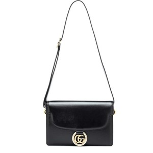 Item - Gg Ring Small Leather Black Shoulder Bag