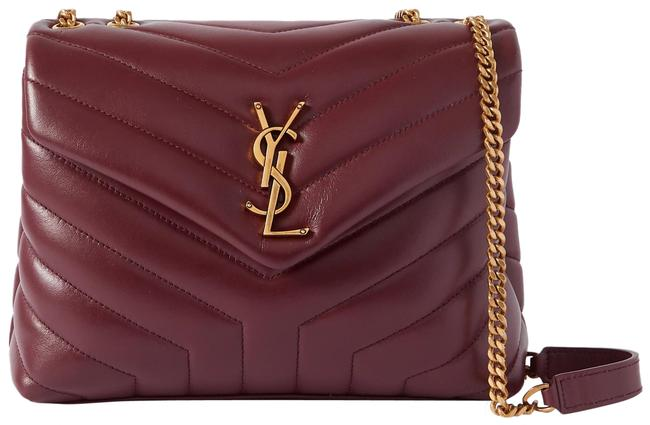 Item - Monogram Loulou Shoulder Small Quilted Burgundy Leather Cross Body Bag