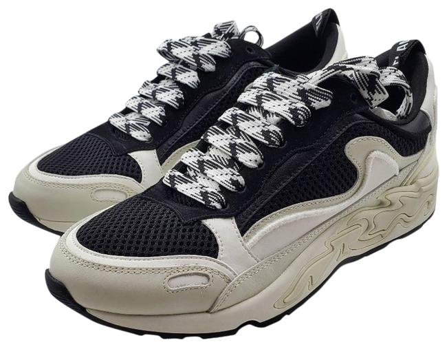 Item - Flame Leather and Mesh Trainers 36) Sneakers Size EU 36 (Approx. US 6) Regular (M, B)