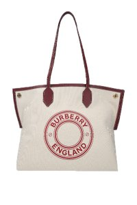 Burberry Society Canvas Bags Tote in Beige