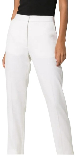 Item - White Wool Detail Satin Stripe Trousers Pant Suit Size 4 (S)