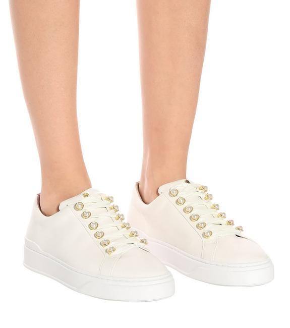 Item - Cream Excelsa Faux Pearl Sudded Sneaker Flats Size US 11 Regular (M, B)