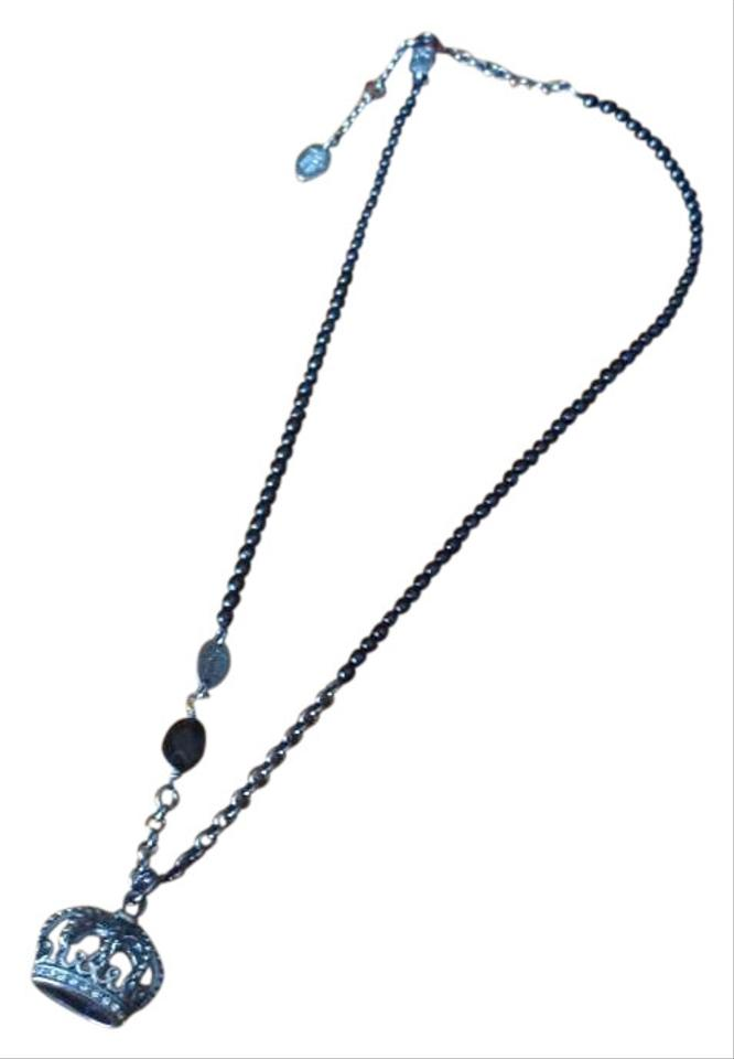 Juicy couture black and silver necklace 55 off juicy for Juicy couture jewelry necklace