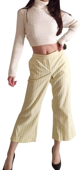 Item - Yellow Editor Striped Cropped Pants.-c4. Activewear Bottoms Size 6 (S, 28)