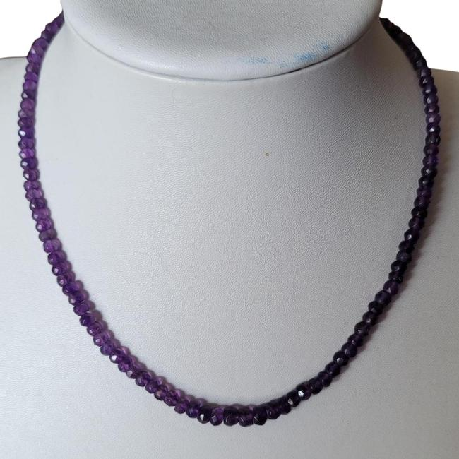 """Item - Purple New African Amethyst Bead Faceted 75cttw 18"""" 2"""" Extndr Necklace"""