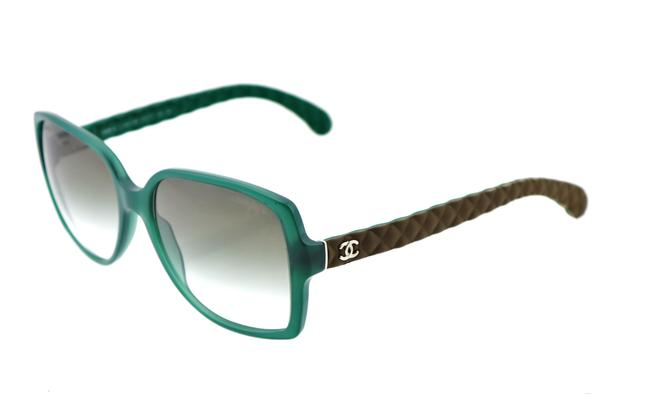 Item - Green Ch 5289-q C.1447/S3 57mm Quilted Leather Italy Sunglasses