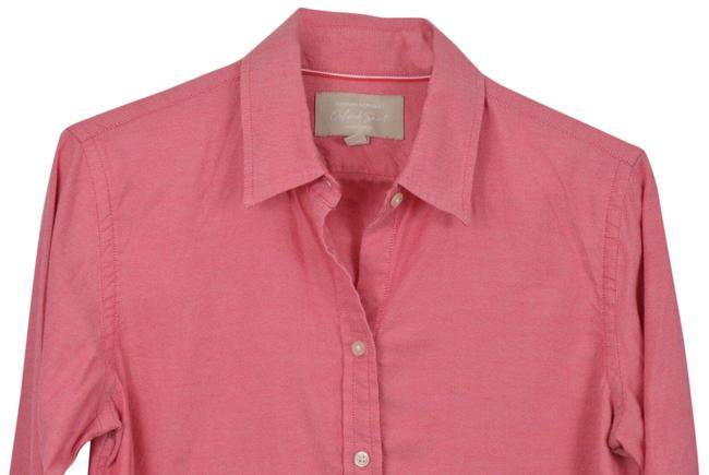 Item - Red Button-down Top Size 4 (S)