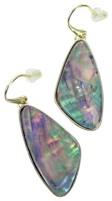 Item - Lilac Abalone Mckenna Gold Small Drop In Earrings
