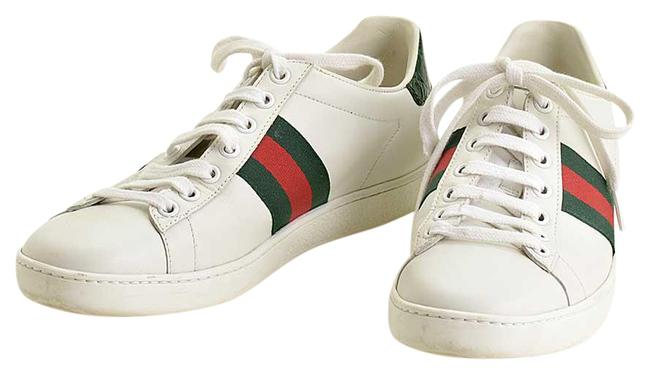 Item - White/Green/Red Rdc11389- Leather/Web Trim Ace 37 Sneakers Size US 6.5 Regular (M, B)