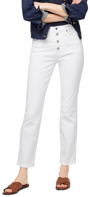 """Item - White Light Wash 10"""" Vintage In with Button Fly Straight Leg Jeans Size 25 (2, XS)"""
