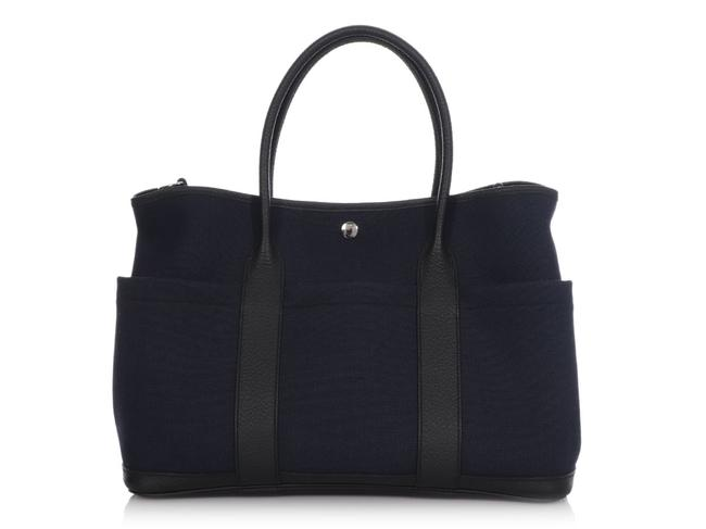 Item - Garden Party Navy with Pockets Blue Canvas Shoulder Bag
