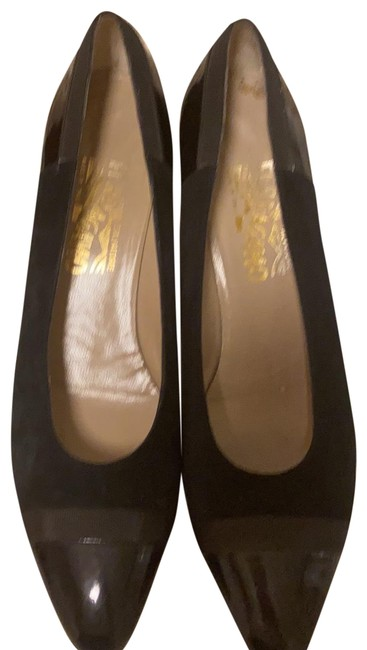Item - Black Velvet & Patent Pumps Size US 10 Narrow (Aa, N)
