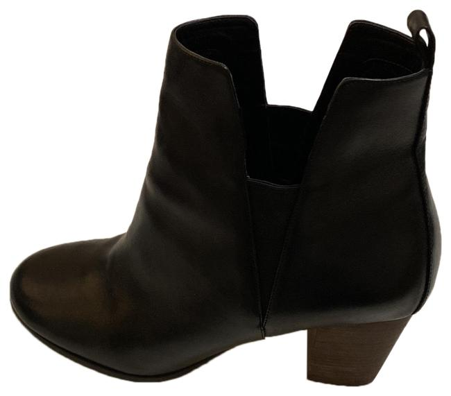 Item - Black Leather with Brown Stacked Heels Boots/Booties Size US 10 Regular (M, B)