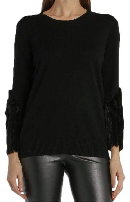 Item - Cashmere Wool and Mink Black Sweater