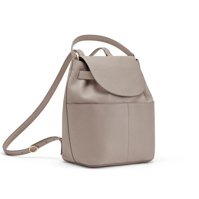 Item - Stone Pebbled Leather Backpack