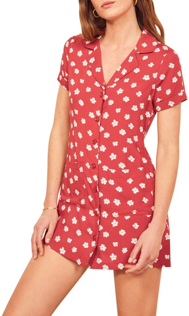 Item - Red Plymouth Shirtdress Short Casual Dress Size 12 (L)
