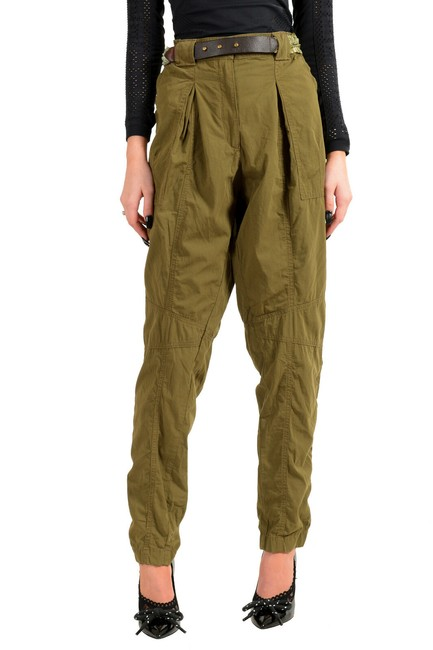 Item - Olive Green Women's Belted Casual Pants Size 4 (S, 27)