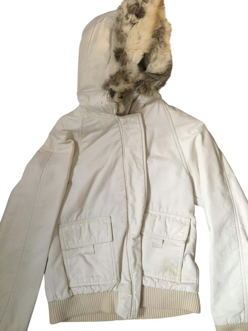 Item - Ivory White Bomber Jacket Coat Size 4 (S)