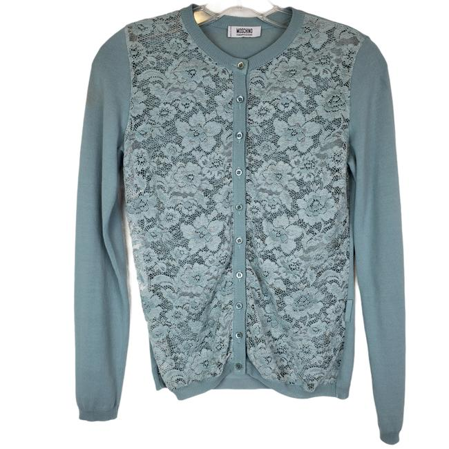 Item - Blue Cheap and Chic Green Lace Cardigan Size 4 (S)