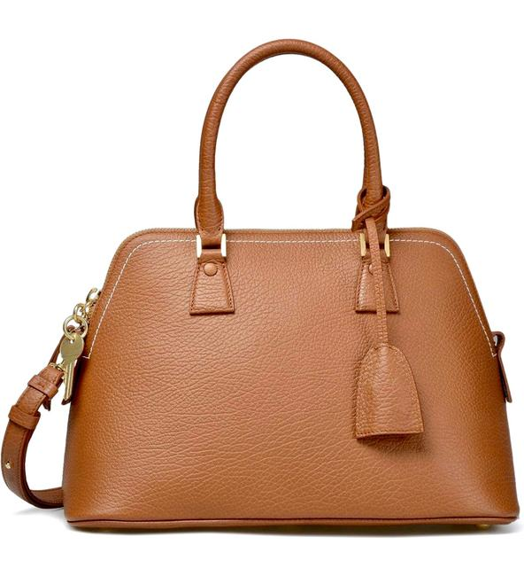 Item - Large 5ac Brown Camel Grained Calfskin Leather Tote