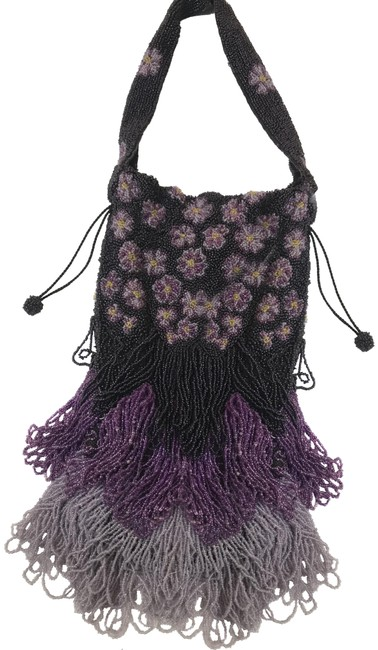 Item - Embroidered Purple Beads/Fabric Clutch