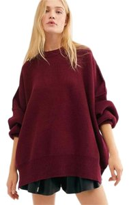 Free People Longsleeve Boat Neck Knitted Tunic Casual Sweater