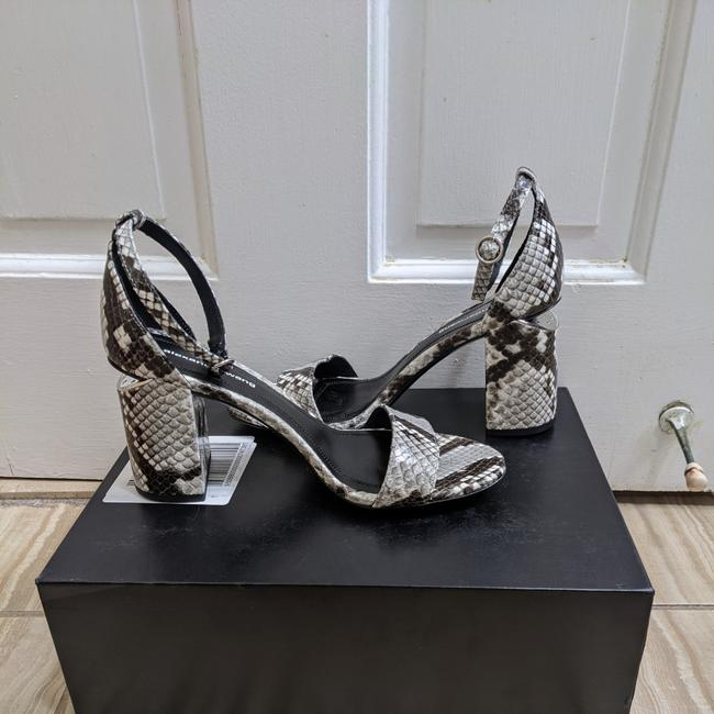 Item - Black Abby Roccia Snake Sandals Size US 7 Regular (M, B)