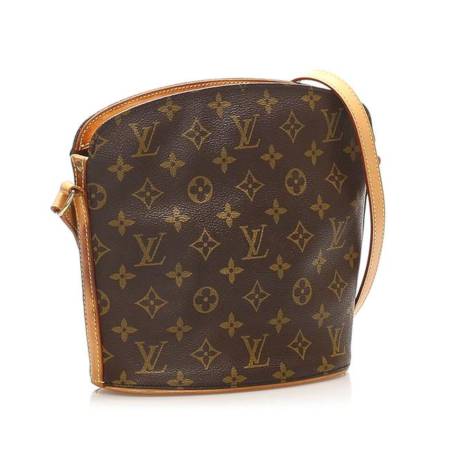 Item - Drouot Monogram Brown Leather Cross Body Bag