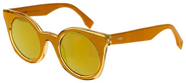 Item - Orange Yellow 0196 Be You Ff0196s Mirrored Flat Cat Eye Sunglasses