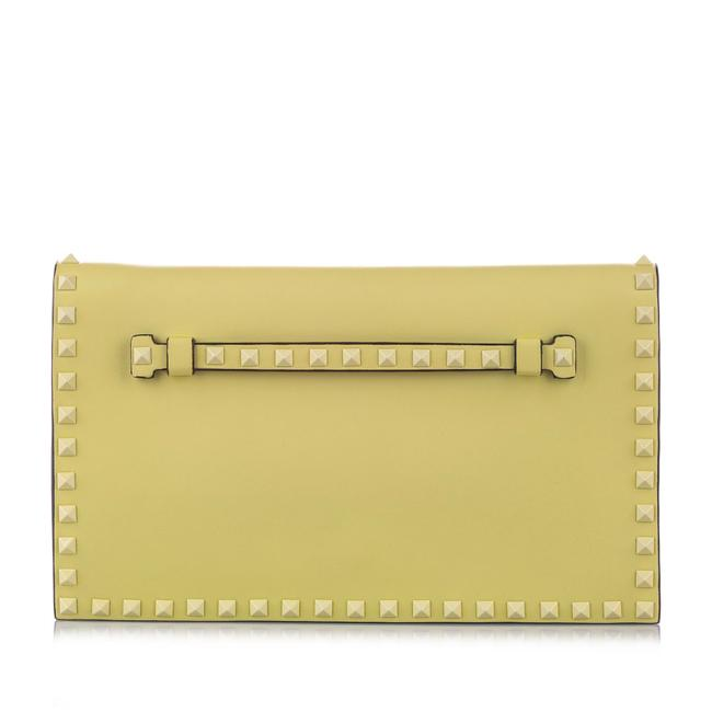 Item - Rockstud Green Leather Clutch