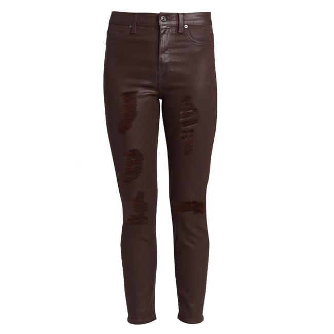 Item - Mocha Distressed Coated Ankle Skinny Jeans Size 2 (XS, 26)