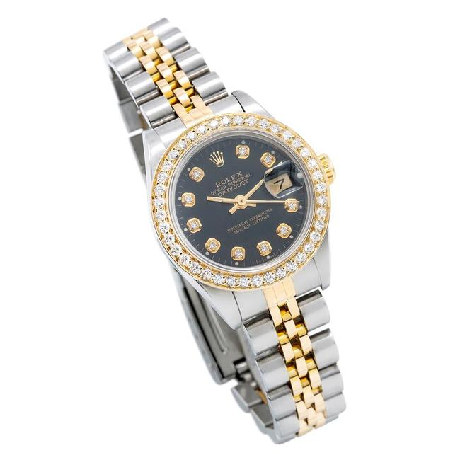 Item - Black W Stainless Steel and 18k Yellow Gold with Dial Two Tone Watch