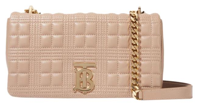 Item - Shoulder Quilted Lola Sand Lambskin Leather Cross Body Bag