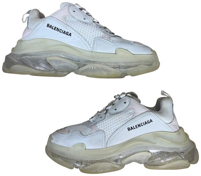 Item - Triple S Clear Sole Men's White Leather Mesh = 8 Sneakers Size EU 41 (Approx. US 11) Regular (M, B)