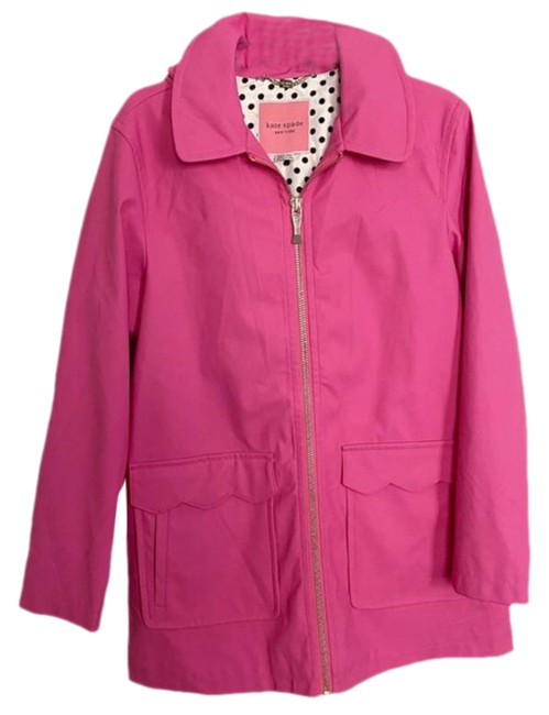 Item - Pink Scallop Trim Coat Size 4 (S)
