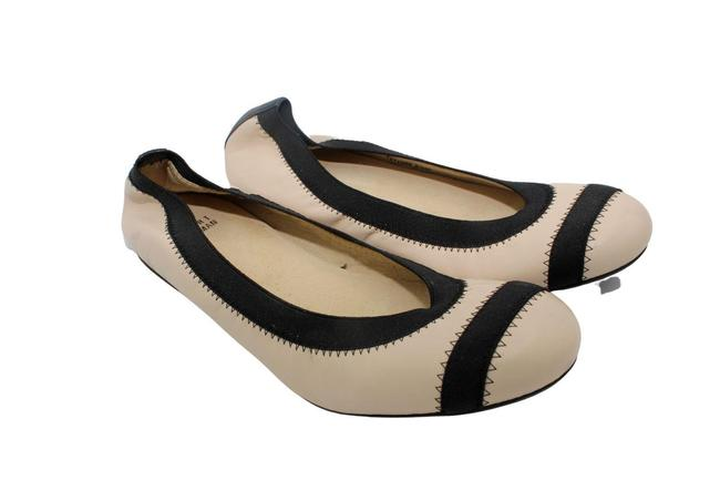 Item - Nude Pan Leather with Black Trim Giveable Ballet Flats Size US 8.5 Regular (M, B)