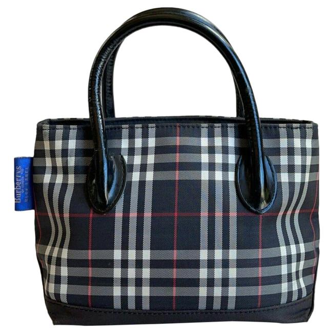 Item - Nova Check Mini Handbag Black (Multicolor) Canvas & Leather Tote