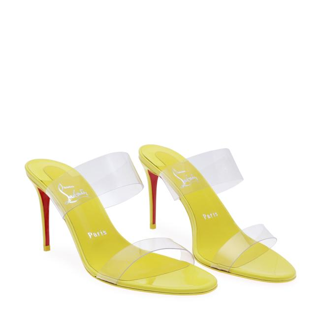 Item - Yellow Just Nothing Pvc & Leather Mules Pumps Size EU 40 (Approx. US 10) Regular (M, B)